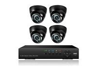 6 cam cctv cameras hd hq night and day
