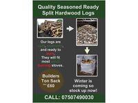 Top Quality Ready Split Seasoned Hardwood Logs