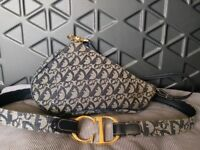 Dior pouchette and belt vintage monagram
