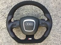 AUDI A5 S5 NEW CUSTOM MADE DSG PADDLE SHIFTERS STEERING WHEELS
