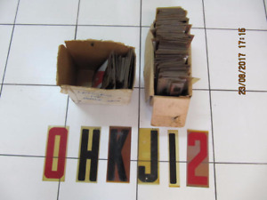 Classic Rare 300+pc Lot Of 9 inch Mobile A Frame Sign Letters