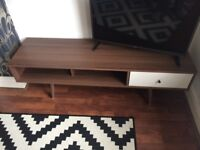Retro TV/Media Unit in Walnut effect - fits up to 60 inch Tv