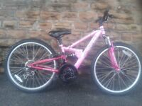 "Apollo FS24, Full Suspension Girls Bike 24"" AS NEW"