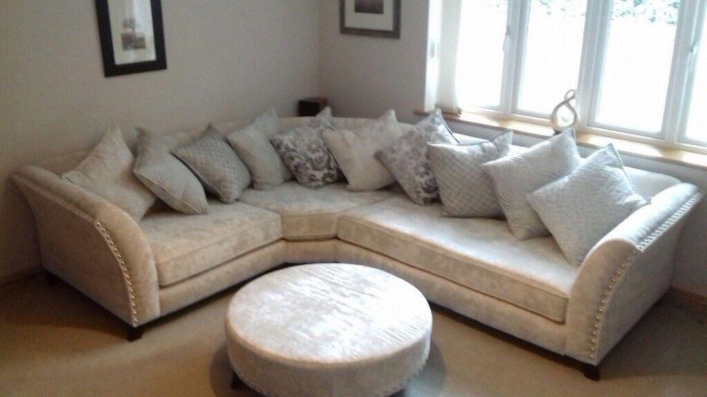 Rendezvous Fabb Sofa Corner Sofa Cream In Bramcote