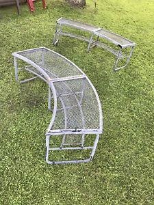 Mesh Fire Pit Benches