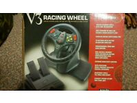 V3 racing wheel and pedals