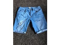 River Island men's denim shorts