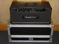 Bad Cat Hot Cat 100R valve amplifier head top of the range with NSP flightcase