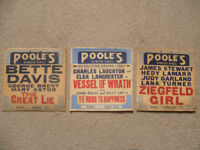 3 Original Edinburgh Cinema Publicity Hanging cards from the 1940's.