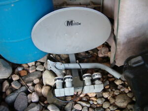 satellite dish and mount