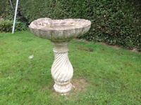 Large stone bird bath..good condition just needs a clean ..collection only