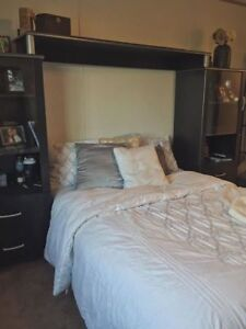 Double Bed and Shelving Unit