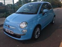 2012 FIAT 500 LOUNGE 1.2,NEW CLUTCH,BRAND NEW MOT,PETROL,MANUAL,£30 ROAD TAX,LOW MILES,HPI CLEAR