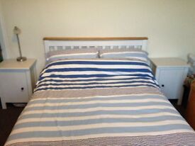 Beautiful solid wood double bed with Airsprung Deep Ortho Cushion Top Double Mattress.