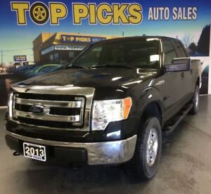 2013 Ford F-150 XLT, CREW CAB, 4X4, LOW KMS, ONE OWNER!