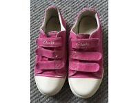 Girl's Clarks Shoes, Doodles and School, size 12
