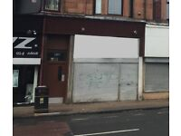 SCOTSTOUN SHOP TO LET/MAY SELL - 1359 DUMBARTON ROAD, GLASGOW. 455 SQ FT