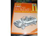 various Haynes car manuals.