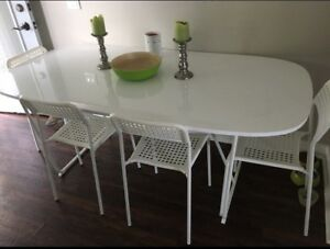 IKEA kitchen table with 6 chairs