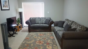 Almost New Hazel Chenille Sofa & Loveseat-Made in Canada - $1800