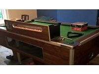 7ft pub pool table & accessories