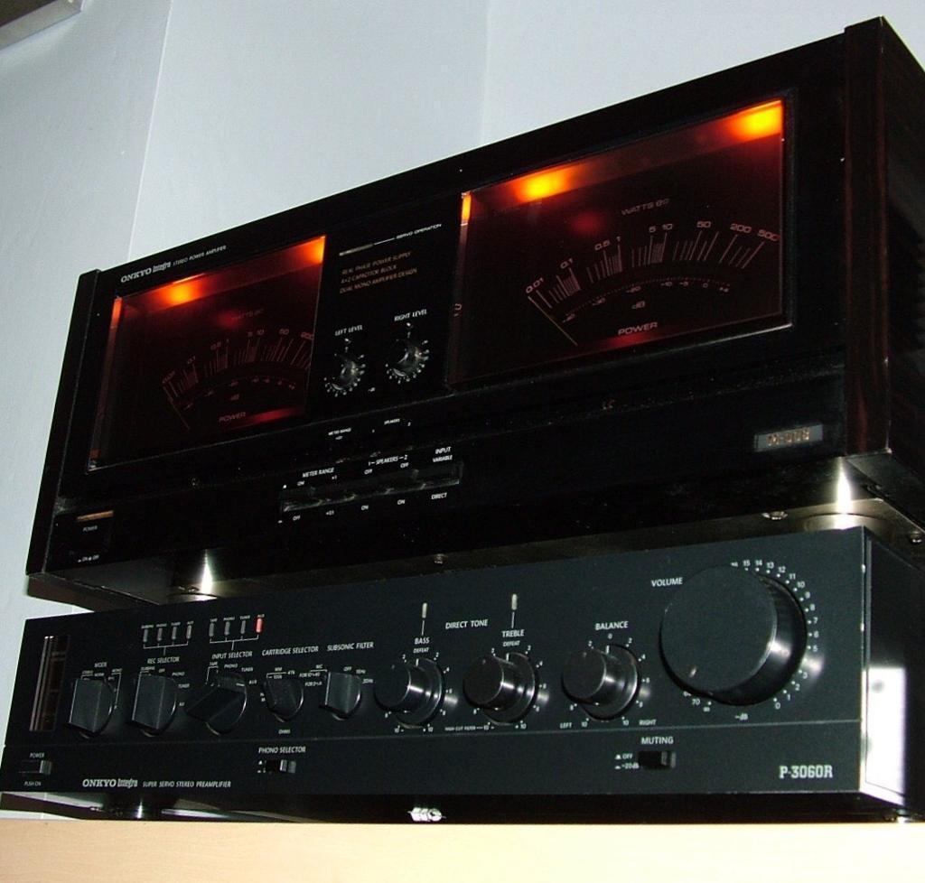 onkyo m 508. onkyo m508 power amplifier \u0026 p3060 r preamplifier reference series m 508