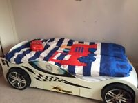 Turbo GT Cream and Black Racer Bed with Draw