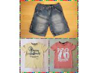 Boys shorts and 2 T Shirts Age 9 and 9-10