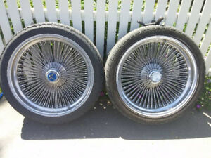 "20"" Dayton Chrome 100 Wire Spoke Wheels"