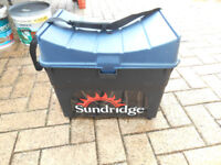 Hard fishing box Sundridge make good condition, 17 inches wide 15 inches high 13 inches deep