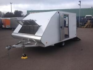 """NEW 2018 XPRESS 101"""" x 12' CROSSOVER SNOW TRAILERS"""