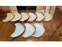 Poole Pottery Side Plates x 9
