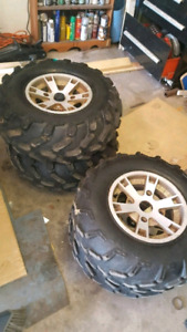 Rims and tires for can am
