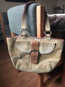 Authentic COACH Suede Purse and Leather Wallet