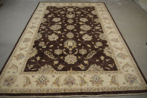 19228-Chobi Ziegler Hand-Knotted/Handmade Afghan Rug/