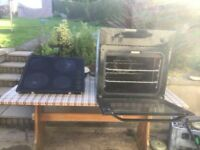 Black belling oven and Electrolux hob.