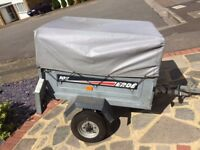 Erde 102 trailer with spare wheel, cover. Good condition.
