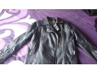 River Island girls faux leather biker style black jacket. Age 9. Excellent condition