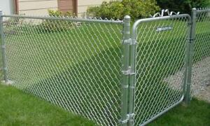 Chain link fence. Galvanized