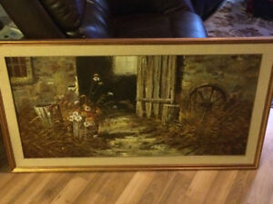 Framed signed oil painting on canvas by Chadwick