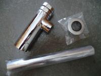 Chrome Round Bathroom Basin Sink Bottle Trap Waste Pipe