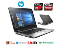 Can Deliver - HP ProBook Gaming Laptop - AMD A6 QuadCore - Radeon 7520G - Win10 - Webcam