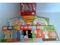 Set of 13 Charlie and Lola Books With Backpack (Hardly Read, Just £8).