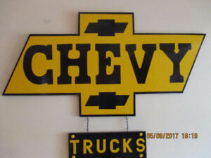 JUMBO HUGE CHEVY TRUCKS SIGN.