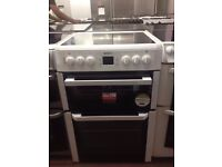 White Beko Reconditioned 60cm Electric Cooker, Birmingham
