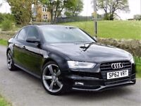 2012 AUDI A4 S LINE BLACK EDITION 2.0 TDI 175 BHP -19 ALLOYS - FINANCE AVAILABLE