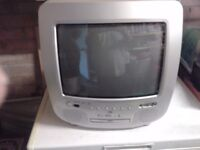 POTABLE COLOUR TV WITH DVD PLAYER ALL IN ONE