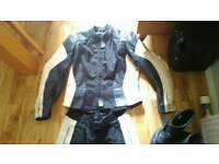Hein Gericke ladies leathers size 14 boots available too size 6.5 bike motorbike