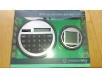desktop calculator & clock