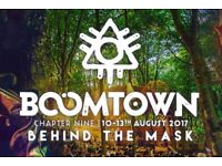2 x Boomtown Tickets including camping